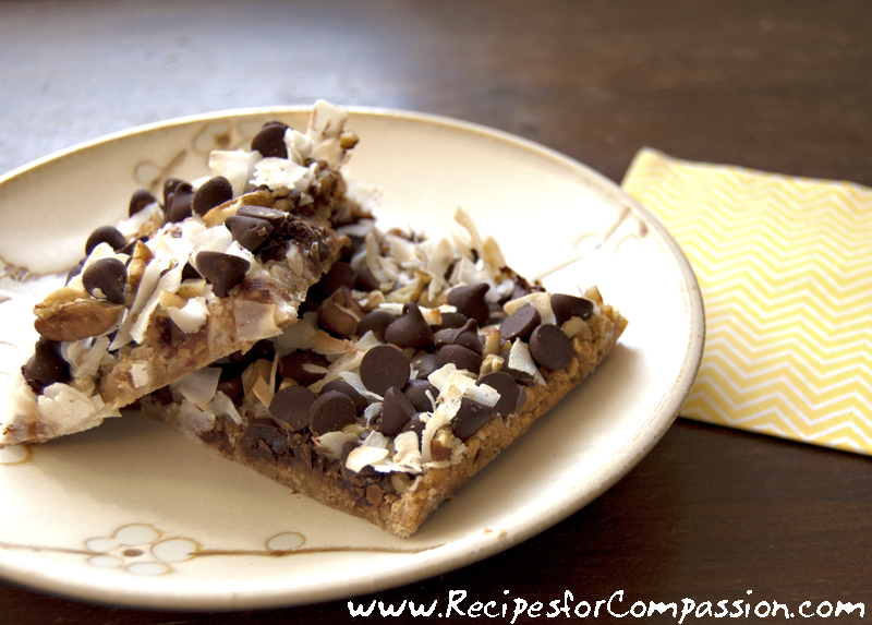 Magic Cookie Bars Seven Layer Bars Recipes For Compassion