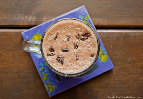 Chocolate Peanut Butter Smoothie by recipes for compassion blog