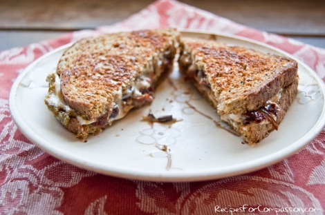 Grilled Provolene Sandwich 2 by Recipes for Compassion blog
