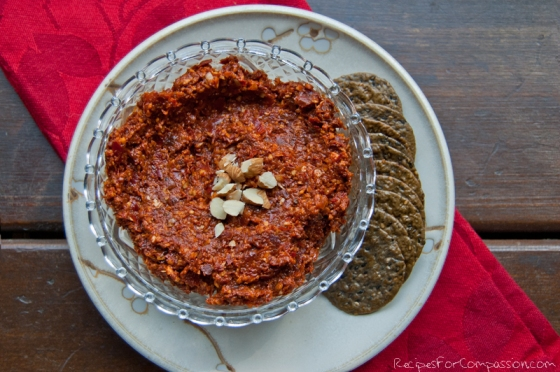 Sun-dried Tomato Pate by Recipes for Compassion blog