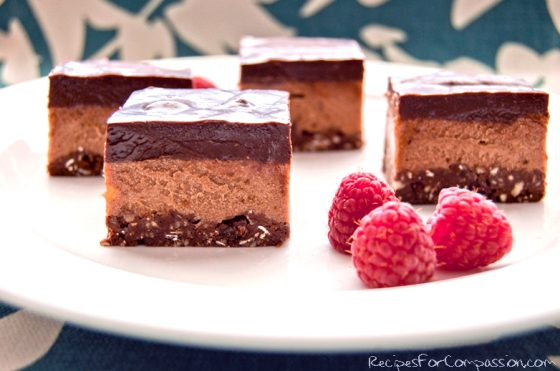Triple Chocolate Cream Bars by Recipes for Compassion blog 2
