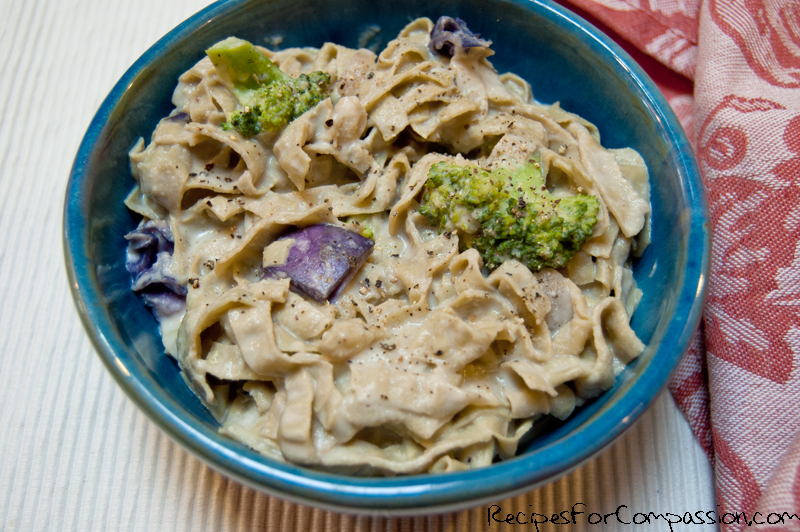 Fettucini Alfredo 2 by Recipes for Compassion blog