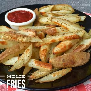 how to make oil-free french fries, oil free fries, oven fries, parchment paper french fries