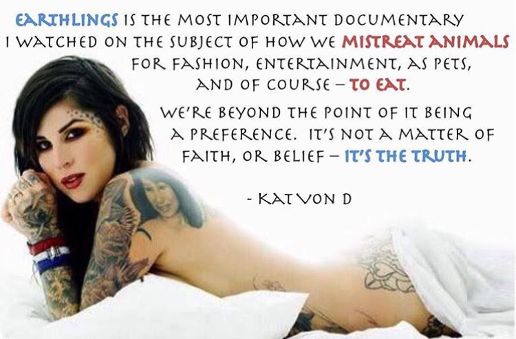 kat von d on going vegan, kat von d vegan, is kat von d vegan?, is kat von d vegan?, veganism kat von d, vegan kat von d, kat von d about veganism, vegan celebrities, vegan celebrity quotes, who are some famous vegans?, famous vegan quotes, famous vegans